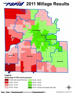 2011 Millage Results from the May 3 vote