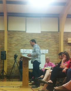 Rick DeVos speaks at the City Commission meeting regarding food trucks