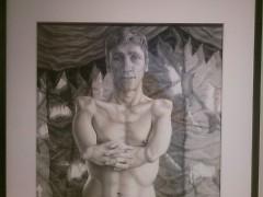 "Riva Lehrer's portrait of actor Mat Fraser as ""Sealo Seal Boy"""