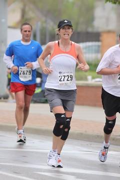 Melissa Janes finishing the River Bank Run 2009.
