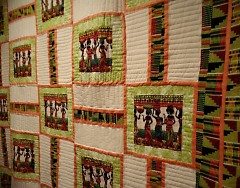 African Motif Quilt by Erica Millbrook, displayed at GRAAMA
