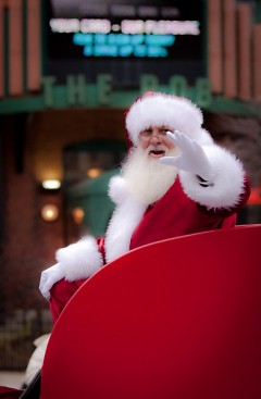 Is it just us, or does even Santa seem to be indicating he'd like a break?