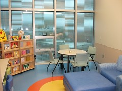 The kid-friendly classroom fosters learning and creativity