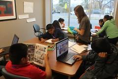 Scholars at work