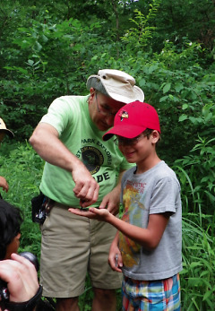 Warren Dunes State Park Explorer Guide Mike Latus leads an activity about insects.