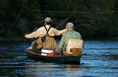 Fly fishing on the Au Sable is big business in the northern Michigan city of Grayling.