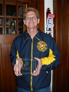 Pat Schmidt with NOGGOA top referee award