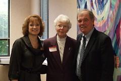 Sharon Loughridge, Mrs. Edith Blodgett, and Mark Thomson.