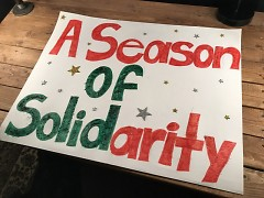 Poster for Season for Solidarity event