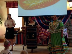 Camp Director Jacqueline Scheuer with cultural team