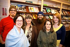 Rapidian staff (left to right): Andy Dragt, Holly Bechiri, Laurie Cirivello, George Wietor, Linda Gellasch, Chelsea LaForge
