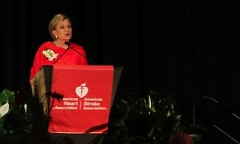 Susan Ford Bates speaking during Tuesday evenings Heart Ball