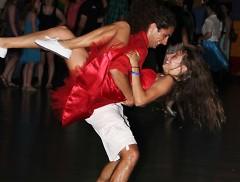 Swing dancers at Swing Dance Prom.
