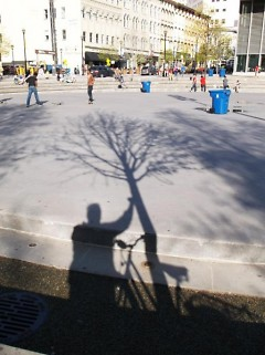 """""""The Shadow of An Equality Freedom Fighter Pays Homage Rosa Parks Circle"""""""
