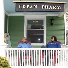 Dom Groenveld (Left) and Ryan VanderMeer (Right) on the porch of Urban Pharm.