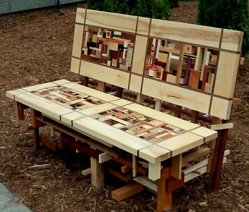 The Acquired Wood Bench That Placed in the Top 25 During ArtPrize 2009