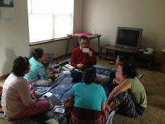 Thrive supports refugees in the Grand Rapids community by providing services such as English language lessons.
