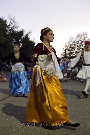 A Greek dancer shows an old tradition