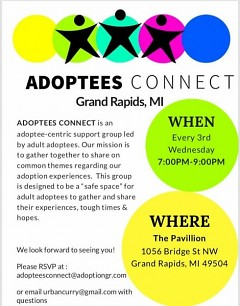 Flyer for 1/16 Adoptees Connect Event