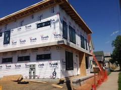 A new housing development on Fourth Street