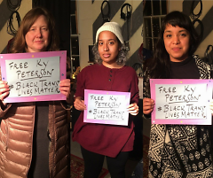 Amy Carpenter, Briana Ureña-Ravelo and Ariana Ortega show support for Ky Peterson