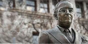 Senator Arthur Vandenberg (statue on Monroe and Pearl)
