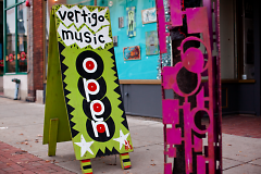 Vertigo Music signage on Division Avenue