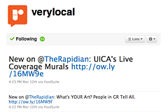 "<a href=""http://www.twitter.com/verylocal"">@verylocal</a>, The Rapidan's lovable Twitter robot"