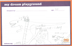 This dinosaur ridden drawing is just one of the playgrounds dreamed upon Design Day.