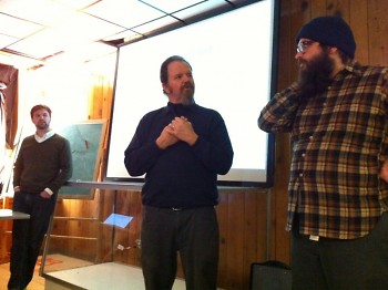 Jonathan Pichot , Paul Wittenbraker and George Wietor at the recent Viget.org relaunch held at Civic Studio