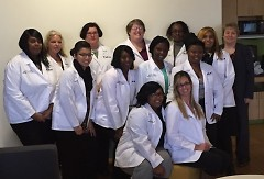 WMCAT's pharmacy technician Class of 2016 pictured at their White Coat Ceremony.