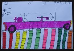 Hot Rod, by Willie Jones (marker on paper)