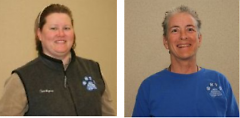 Terrilynne Lymburner and Jeanne Lewis, co-founders of the West Michigan Terapy Dogs, Inc.