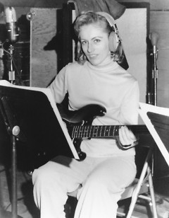 Carol Kaye, the only female member of studio musicians The Wrecking Crew