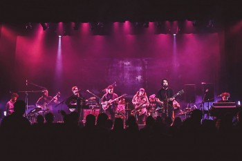 Various artists performing together at Wealthy Theatre on New Year's Eve 2017.