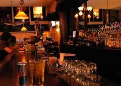 Bar-goers enjoying a drink at The Bulls Head Tavern