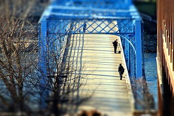 The Blue Bridge in Grand Rapids, MI.
