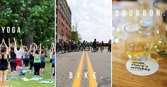 Yoga, bike, bourbon
