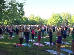 Yoga in the Park in Eastown