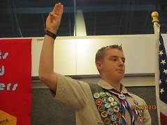 Zach Schemmel at his Eagle Court of Honor