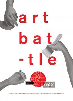 Promotional poster for Art Battle.