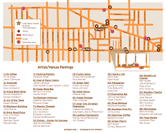Map of ArtPeers venues available at http://www.artpeers.org/