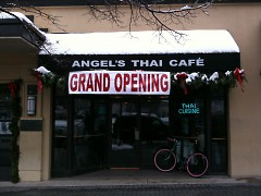 Grand opening of Angel's Thai Café
