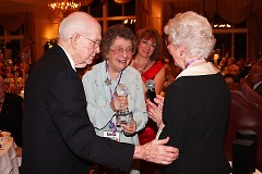 Bill and Inetta Martindill receiving the 2009 Edith Blodgett Compassion Award from Mrs. Edith Blodgett.