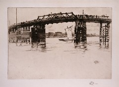 James McNeill Whistler, Old Battersea Bridge c. 1879, Collection of Mrs. Joan Winchell