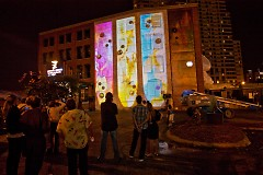 Artitecture on the side of The Bob