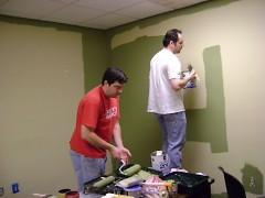 Painting The Rapidian office.